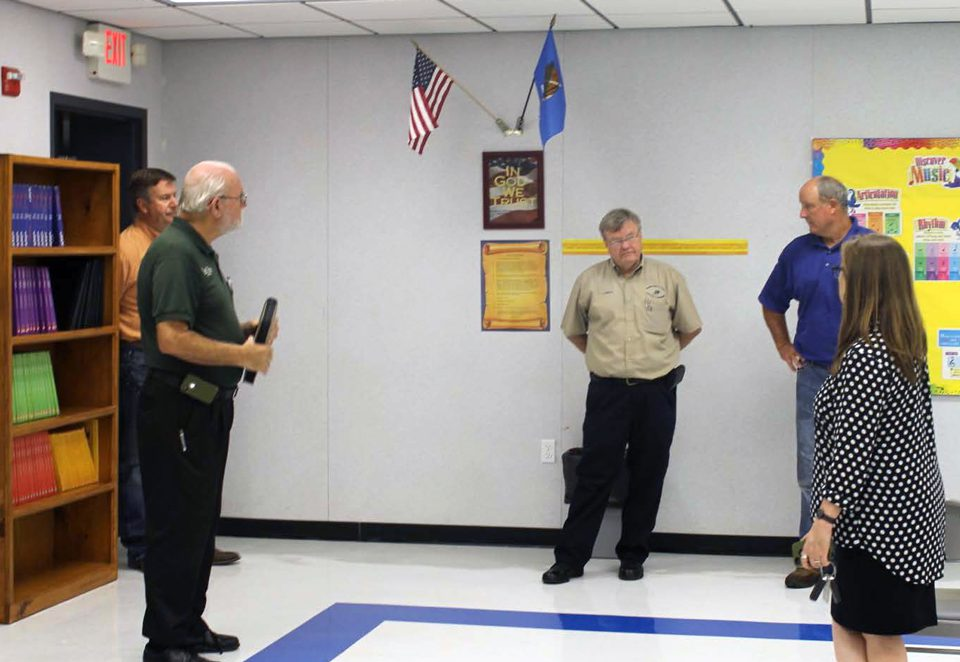 TCOG Public Safety Staff and Fannin County School Administrators Tour Oklahoma School Safe Rooms