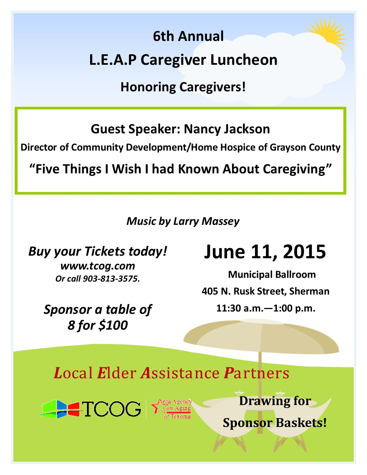 6th Annual LEAP Caregiver Luncheon