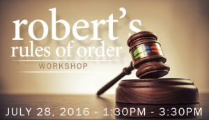 Robert's Rules of Order Training