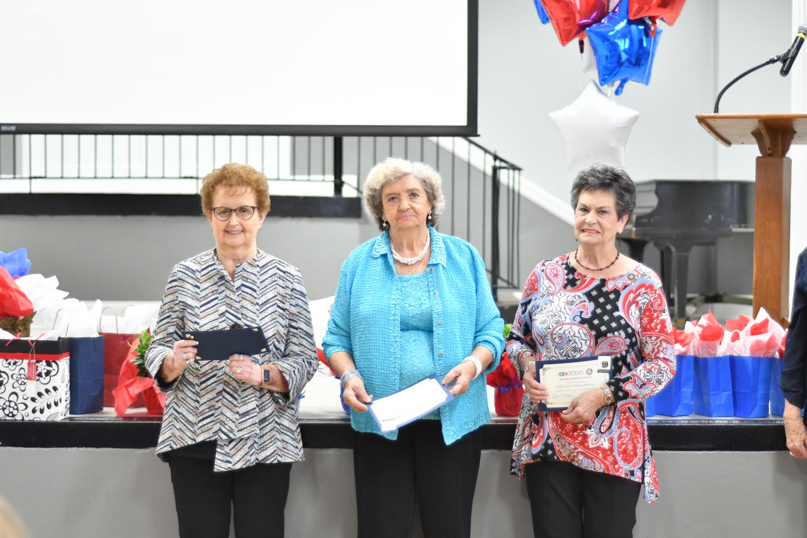 RSVP Volunteers receiving recognition